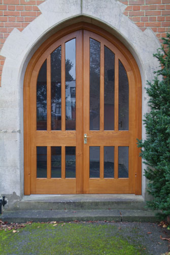 gothic arched oak doors