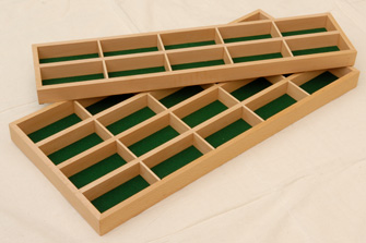 Cufflink tray in beech